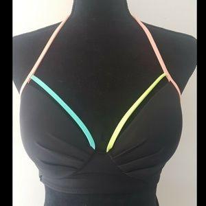 Victoria's Secret 36B black and neon bikini top
